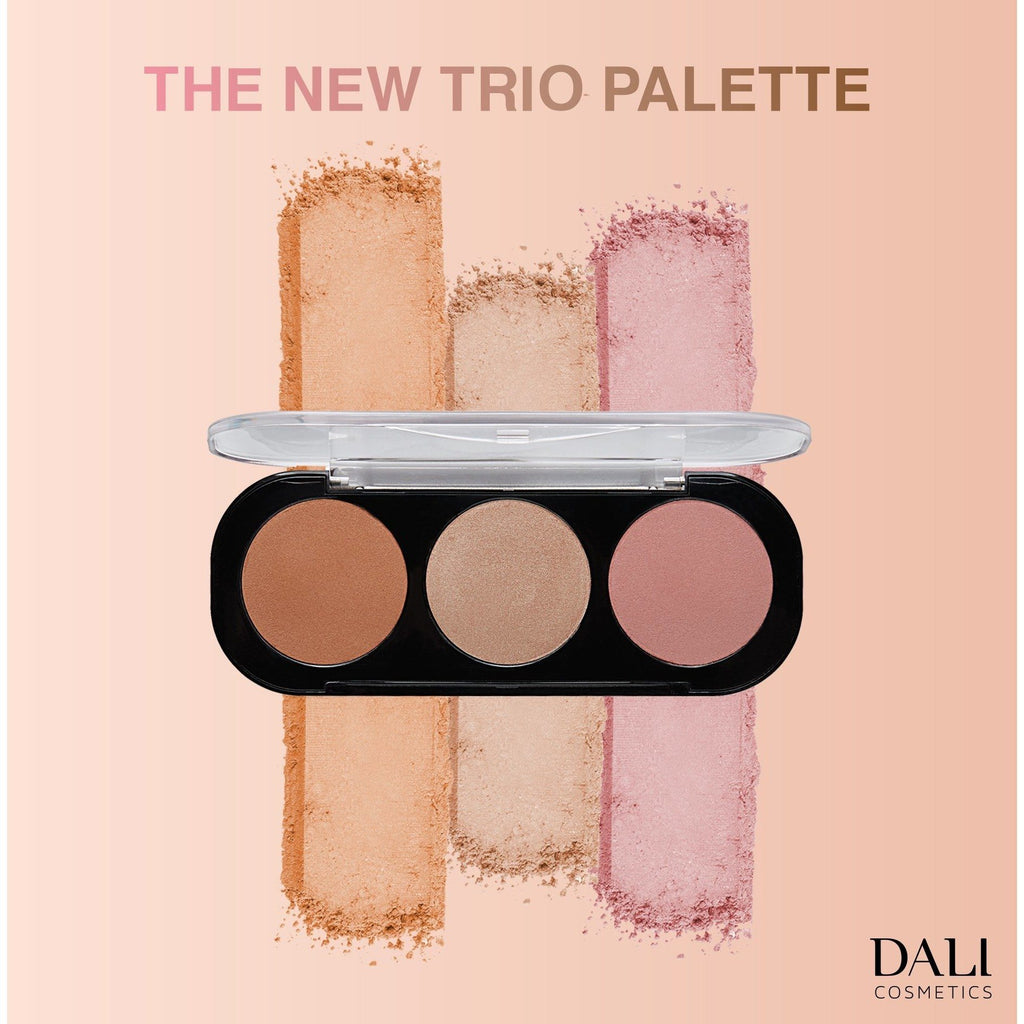Dali Cosmetics Trio Palette: Bronzer, Highlighter & Blush