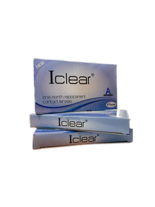 iClear One Month Replacement Contact Lenses (3 Pairs) + Free Solution