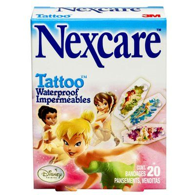Nexcare Tattoo Waterproof Bandages Fairies - Box of 20