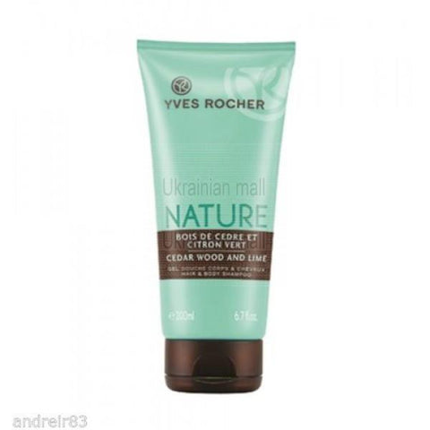 Yves Rocher Cedar Wood and Lime Hair & Body Shampoo