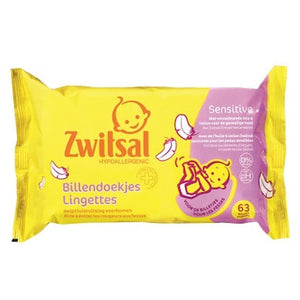 Zwitsal Baby Sensitive Wipes 2x72pc