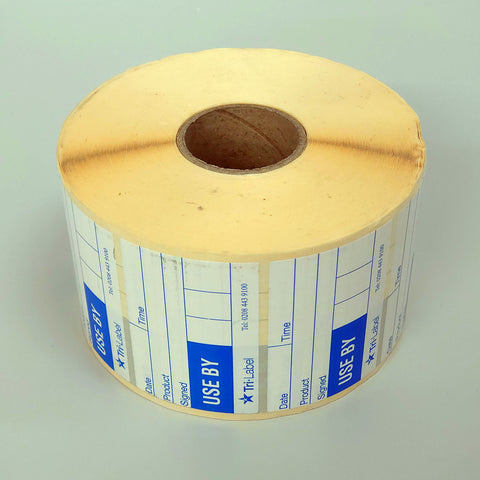 'Use By' Self-Adhesive Labels (80mm x 52mm) Roll of 2000 - Freezer Safe