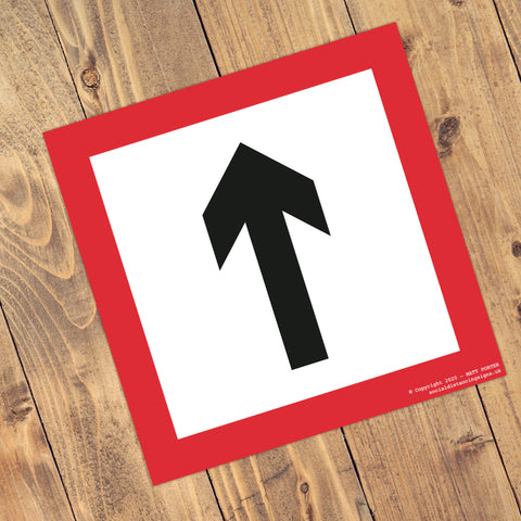 Social Distancing Square Anti-Slip Floor Arrow Stickers (300mm x 300mm) – 10 Pack