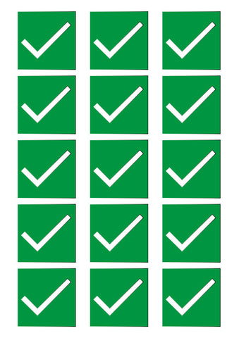 "51mm ""Sit Here"" – Green Tick – House of Commons style Square Stickers"