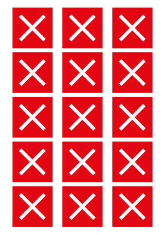 "51mm ""Do Not Sit Here"" – Red Cross – House of Commons style Square Stickers"