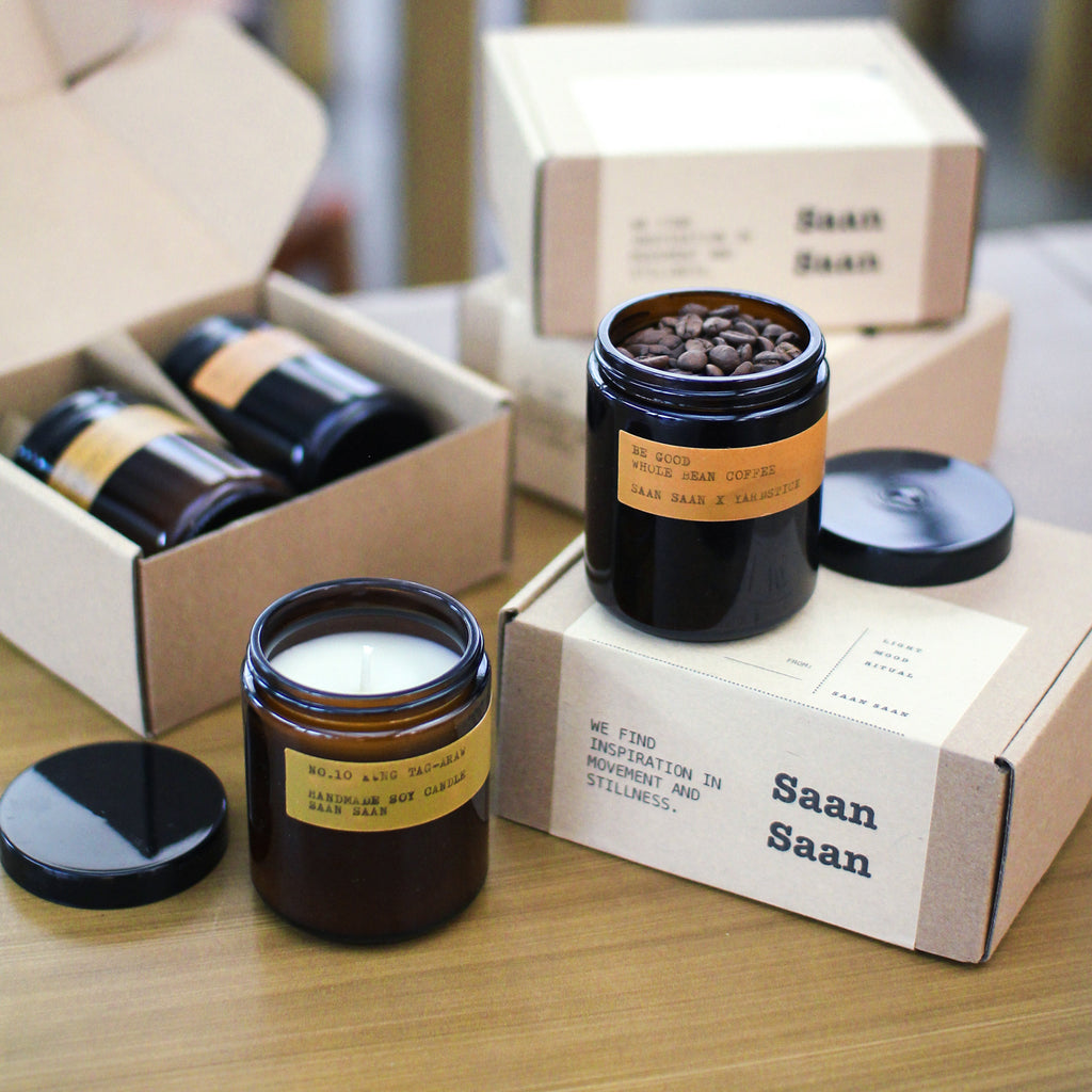 Be Still. Be Good. Saan Saan Coffee & Candle Gift Set