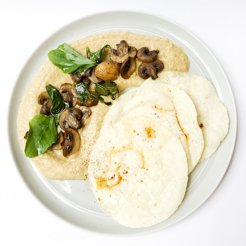 Hummus & Mushrooms