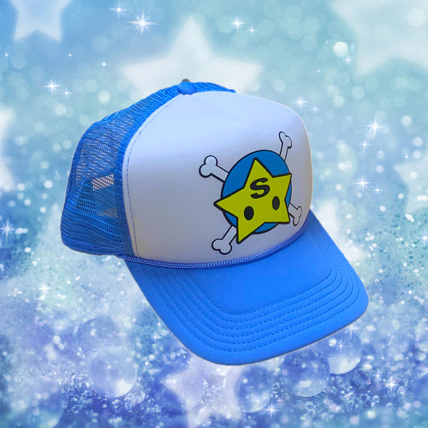 Baby Blue Bone Star Trucker