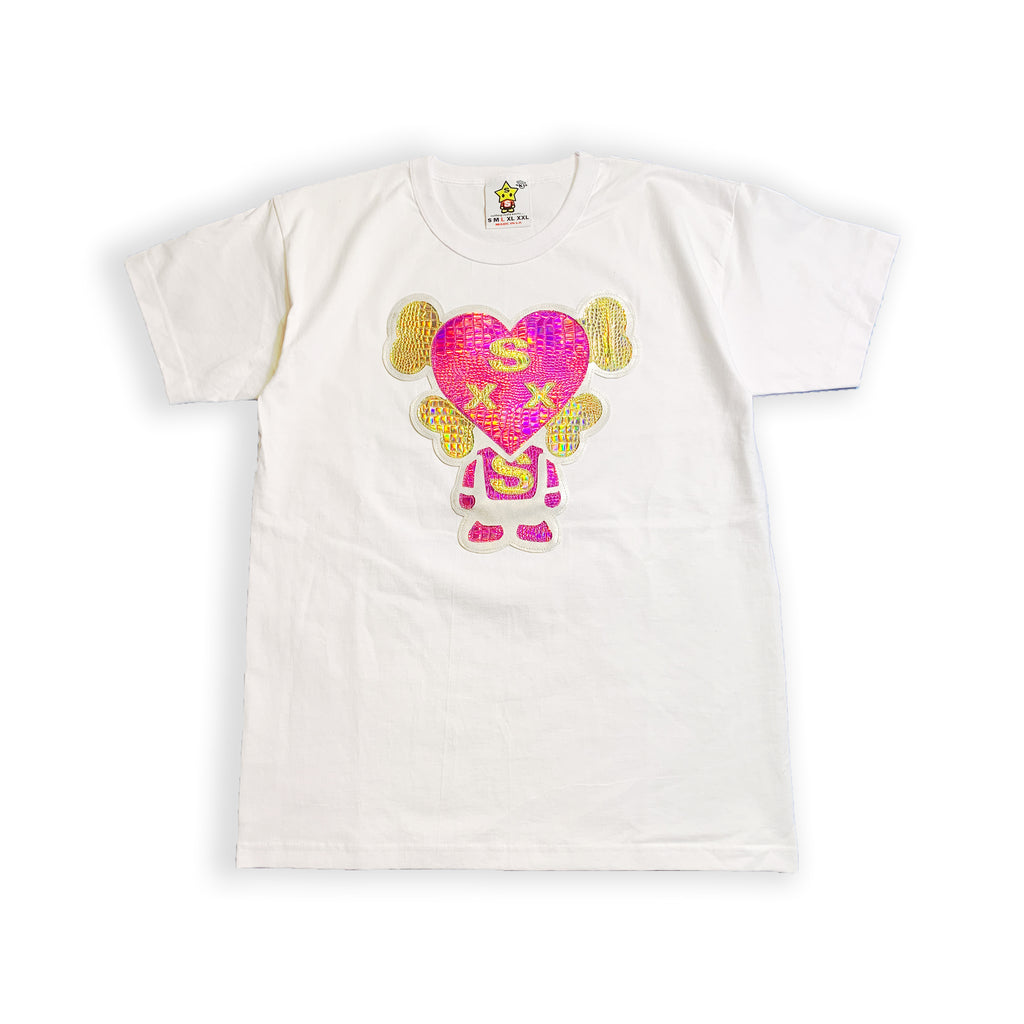 Holographic HeartBoy T-shirt White
