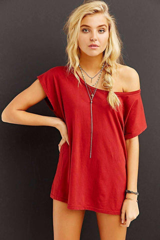 Image of Off The Shoulder Tee Dress