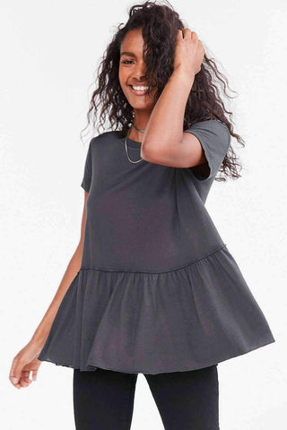 Image of Dusty Road Peplum Tee Dress