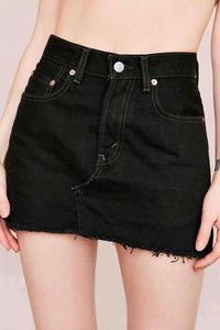 Urban Renewal Low Rise Dark Denim Mini Skirt