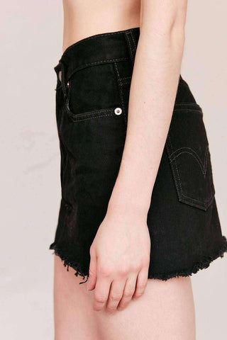 Image of Urban Renewal Low Rise Dark Denim Mini Skirt