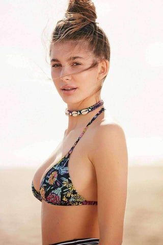 Image of Printed Triangle Racerback Bikini Top