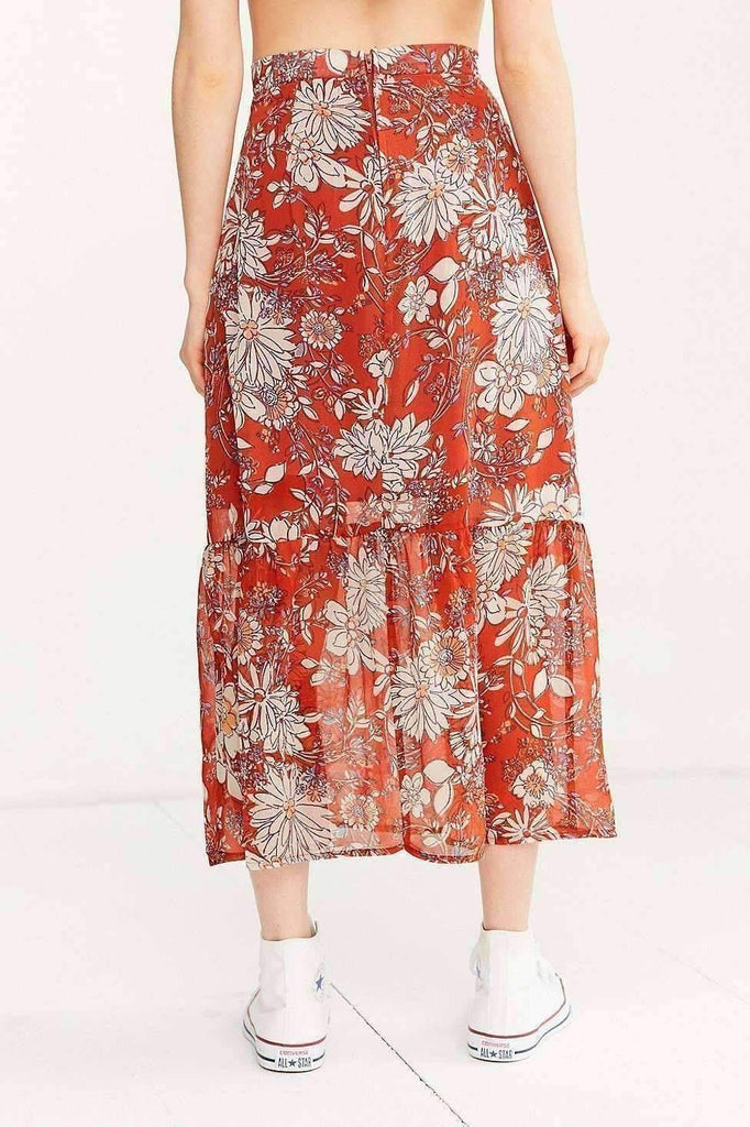 Image of Ruffle Maxi Skirt
