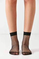Fishnet crew sock