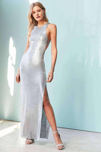 Stingray Metallic Maxi Dress