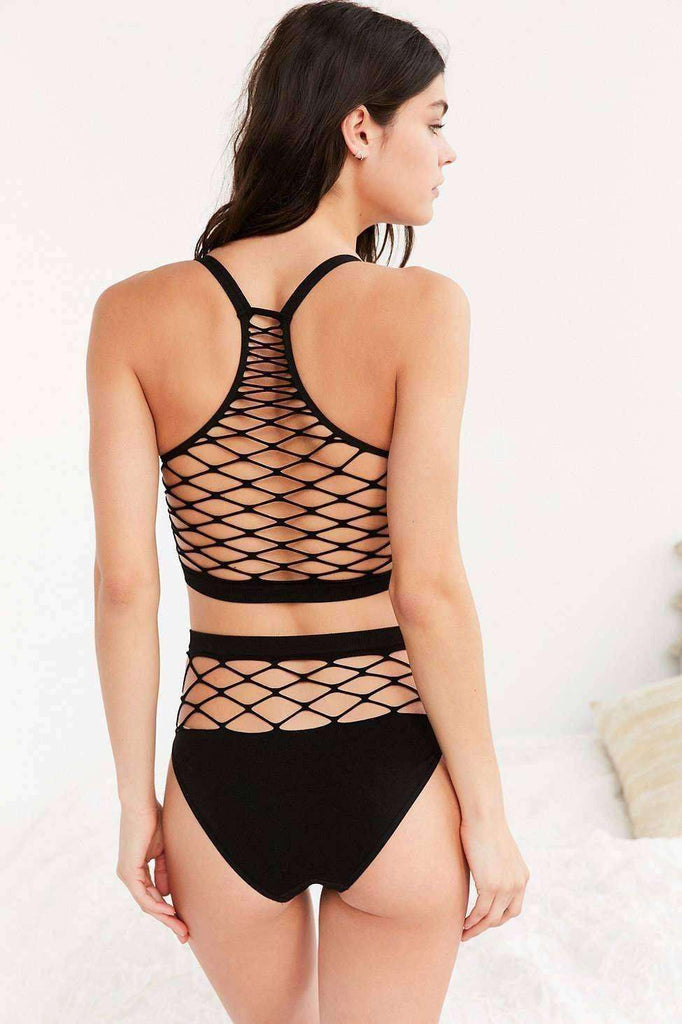 Out From Under Exploded Fishnet Bra