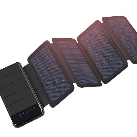 Dual USB 4 Panel Solar Powered Portable Battery