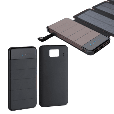 Image of Dual USB 4 Panel Solar Powered Portable Battery