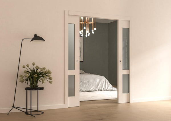 A sliding pocket door is a door that slides back into a pocket in the wall. The door is top hung which means it leaves the floor free of obstructions. & Rocket Pocket Sliding Door Kits \u2013 Rocket Door Frames
