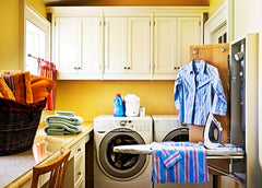 colourful utility room