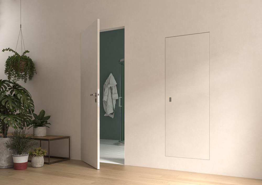 Concealed flush hinged door frames