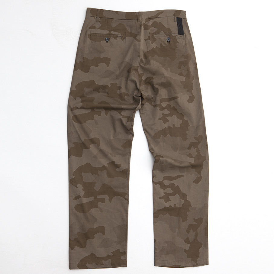 BLACK EYE RAGS - LOOSE FITTING WIDEBOY TROUSER IN LASER CUT CAMOUFLAGE.