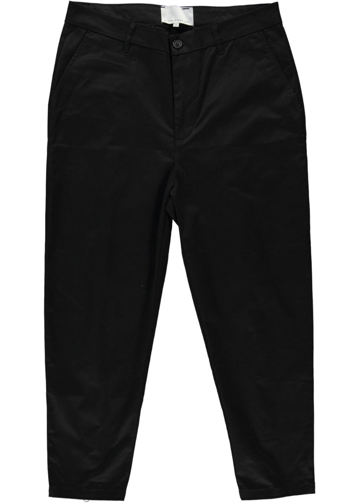 BLACK EYE RAGS - ROTTER PANT IN BLACK WITH WHITE WORKING REAR ZIPS.