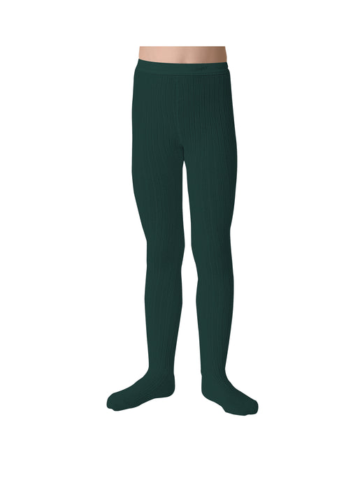 Collegien Marine Green Tights - Claude & Co