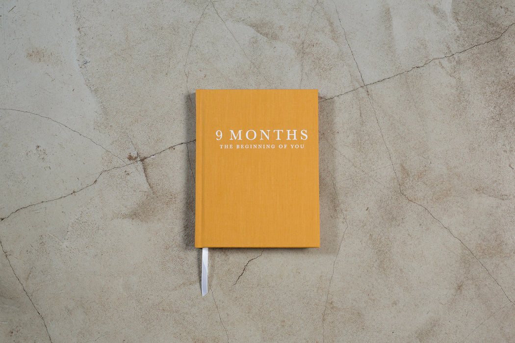 Nine Months Pregnancy Journal - Write To Me Yellow - Claude & Co