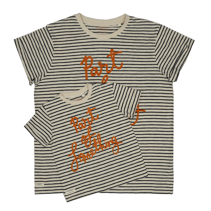 'Part Of Something' Stripe Tee Adult - Charity Donation - Claude & Co