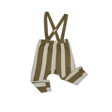 Caramel Wide Stripe Dungaree Legging - Claude & Co