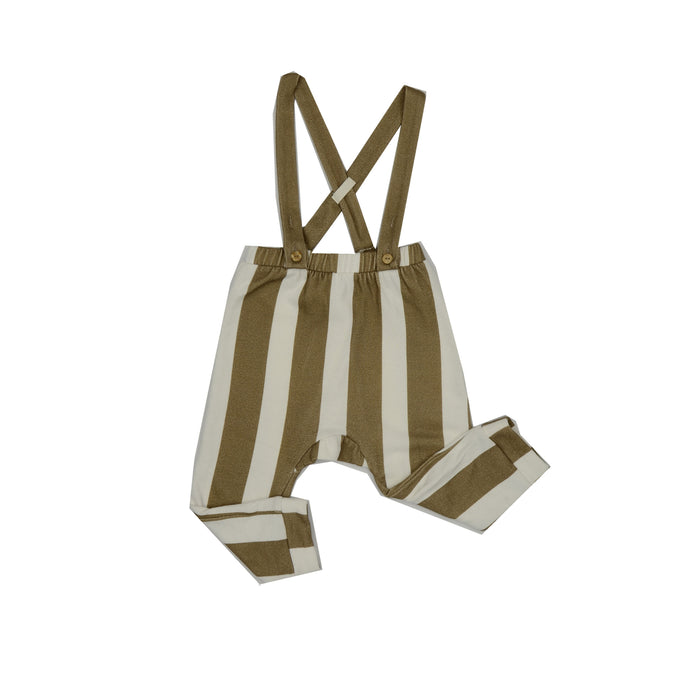 Claude and Co Unisex Stripe Caramel Legging Dungaree