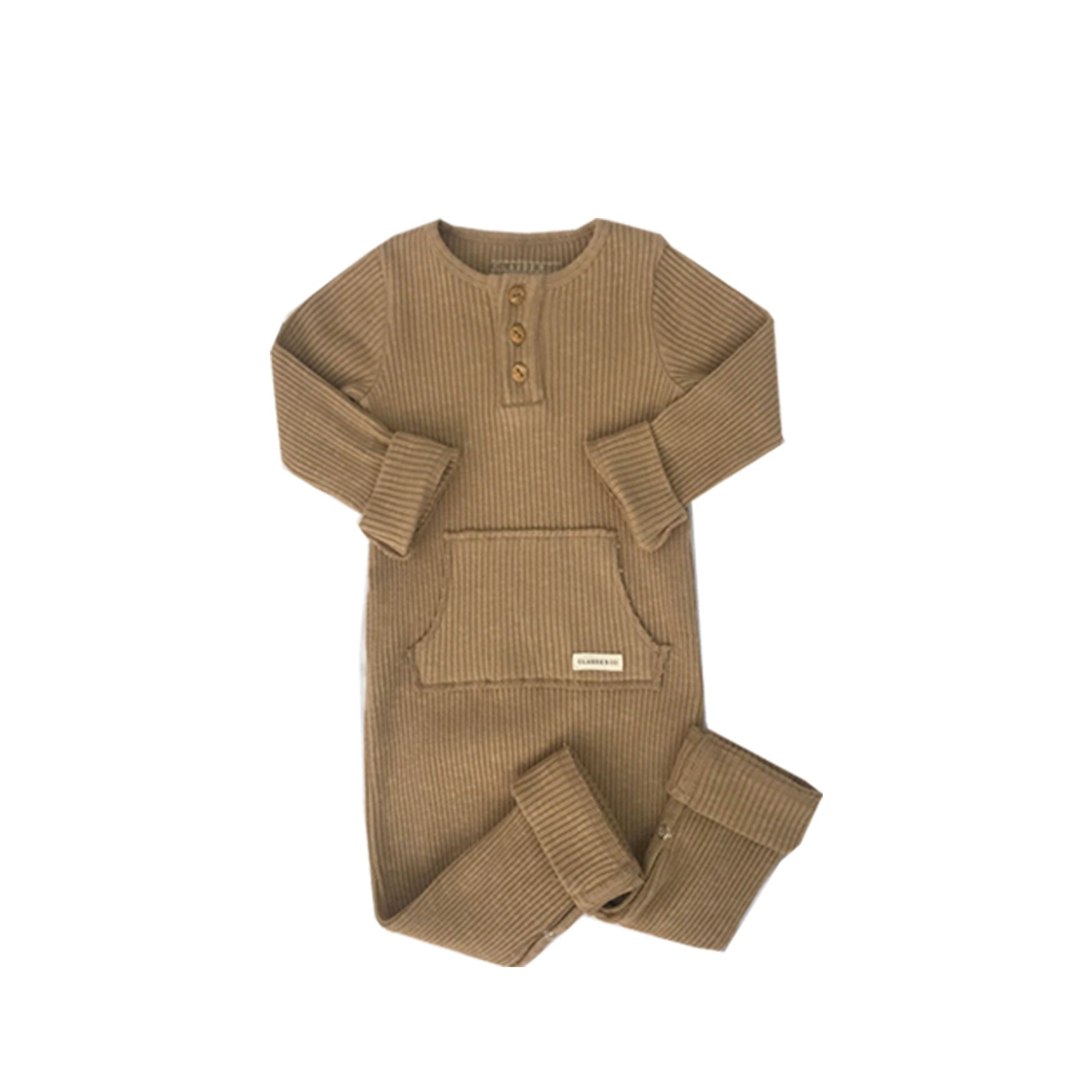 Caramel Rib Suit - Claude & Co