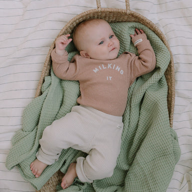 'Milking It' ® Organic Clay Rib Bodysuit