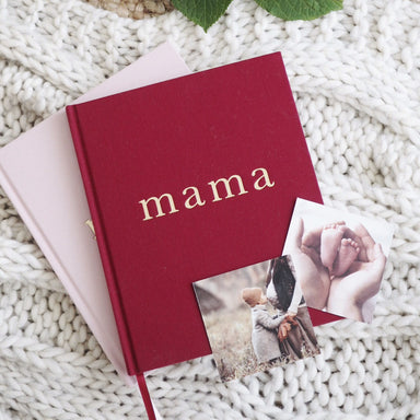 WRITE TO ME - MAMA JOURNAL MAROON - Claude & Co
