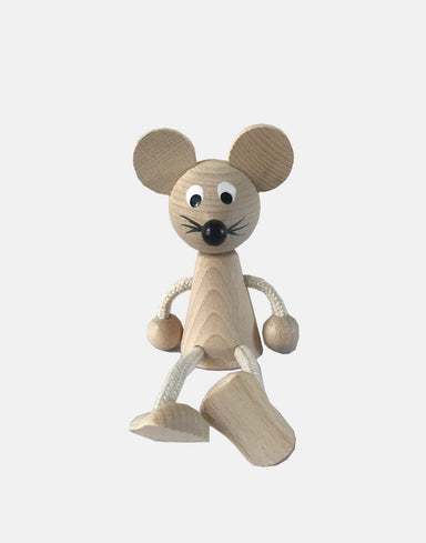 Wooden Sitting Mouse - Claude & Co