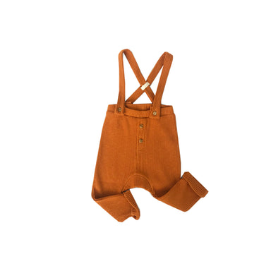Orange Wide Rib Dungaree Legging - Claude & Co