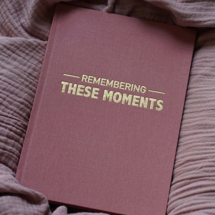 Remembering These Moments -  Dusky Pink Linen
