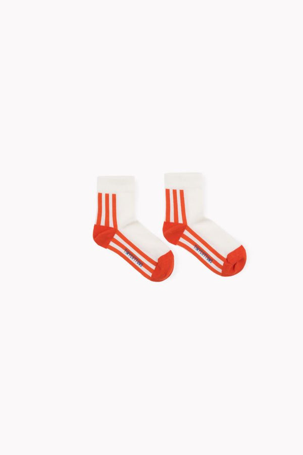 TINY COTTONS ORANGE STRIPE SOCKS - Claude & Co