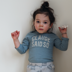 Teal 'Claude Said So' Bodysuit - Claude & Co