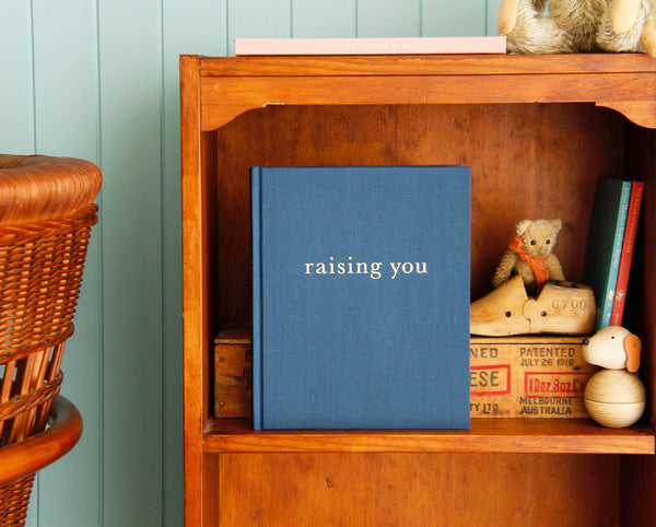WRITE TO ME - RAISING ME - LETTERS TO MY BABY - BLUE - Claude & Co