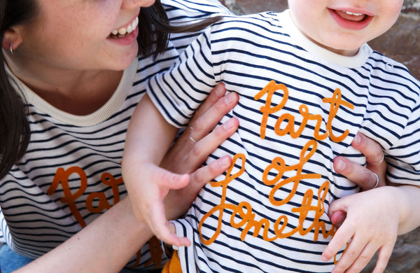 Part Of Something - Charity Stripe Tee Child - Claude & Co