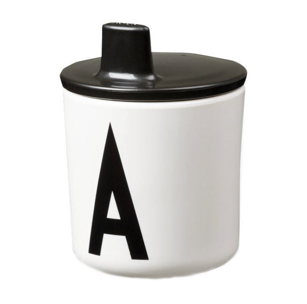 Design Letters Drinking Lid Black (Cup Separate) - Claude & Co