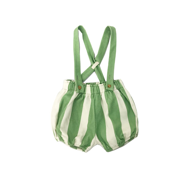 STRIPE GREEN BLOOMER DUNGAREE - CLAUDE AND CO - Claude & Co