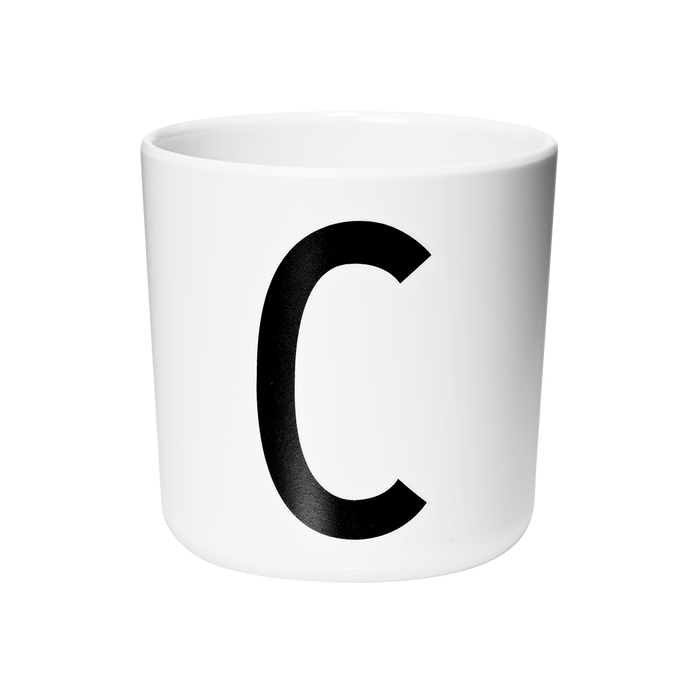 Design Letters Melamine Cups A-Z (Lid Separate) - Claude & Co