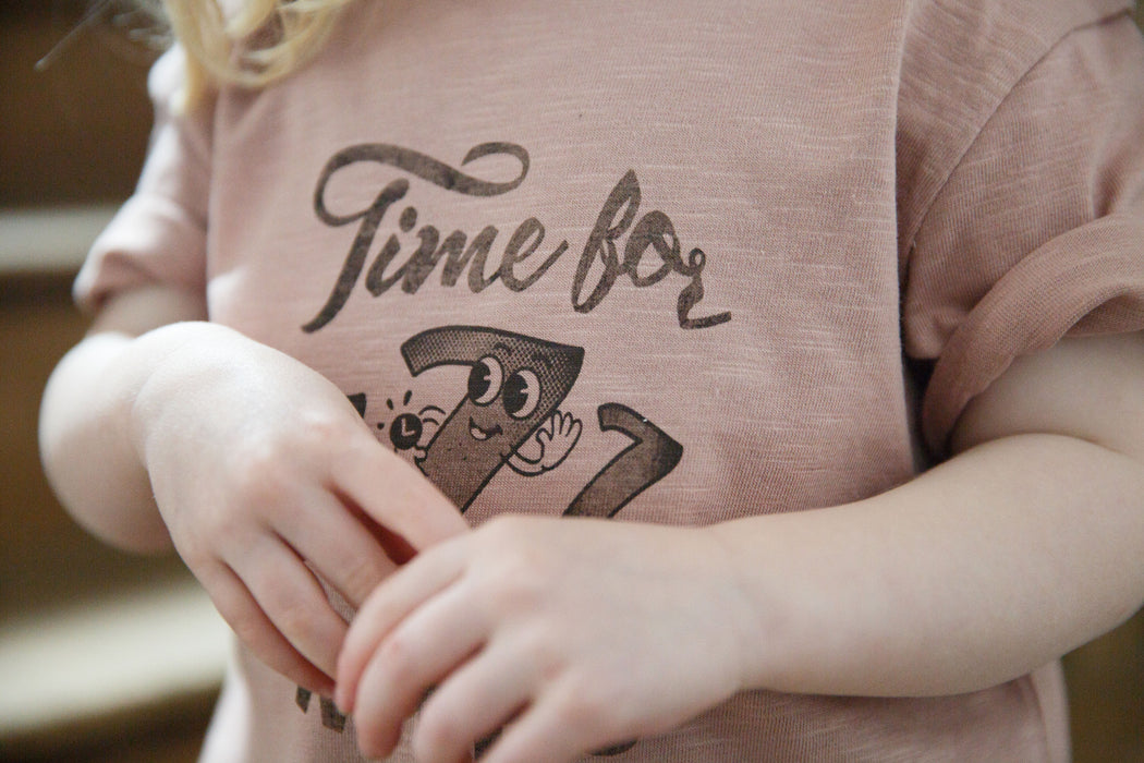 'Time For ZZZ' Dusky Pink Tee - Claude & Co