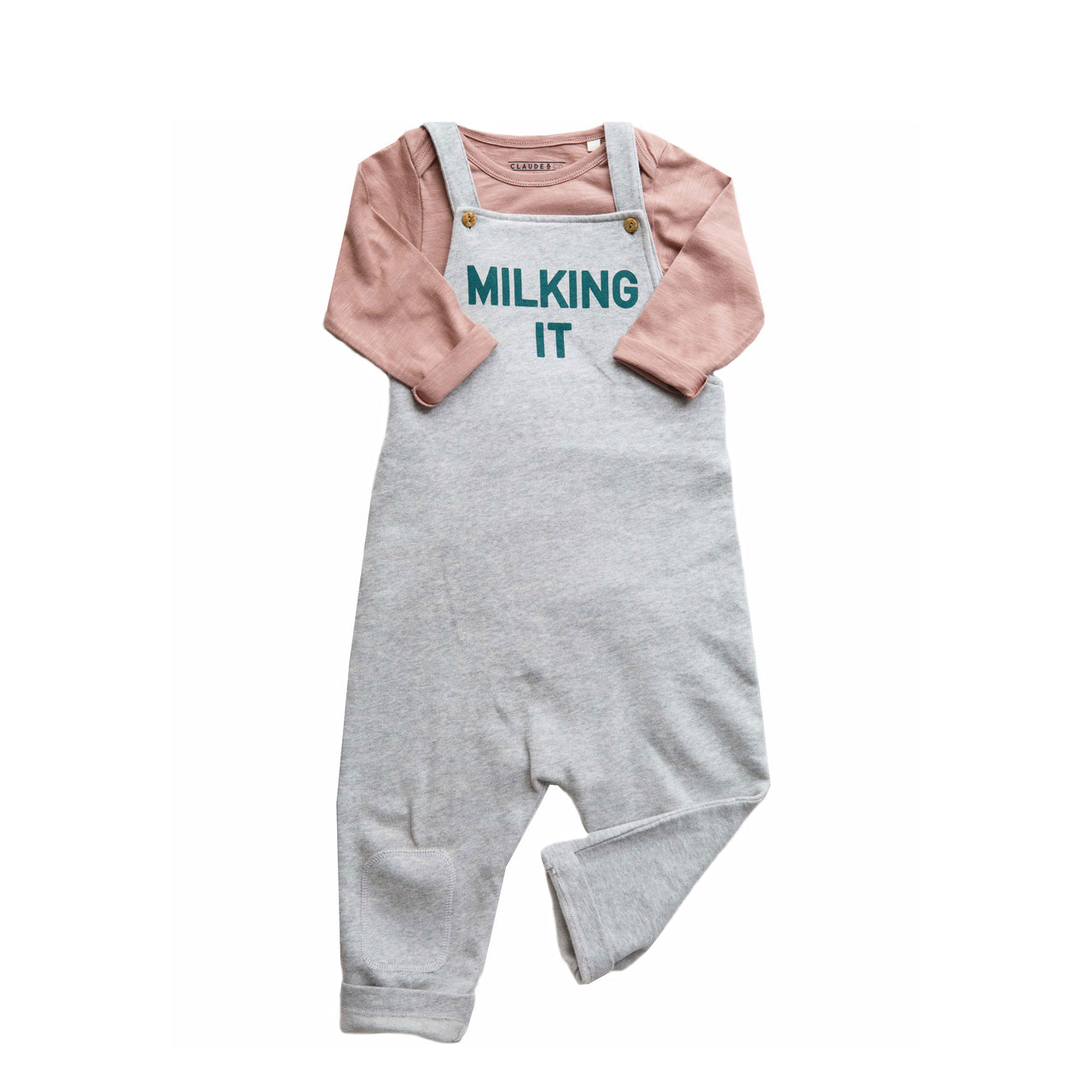 Claude and Co - Milking It Dungaree Grey Unisex - Claude & Co
