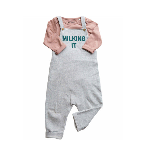 Claude and Co - Milking It Dungaree Grey Unisex